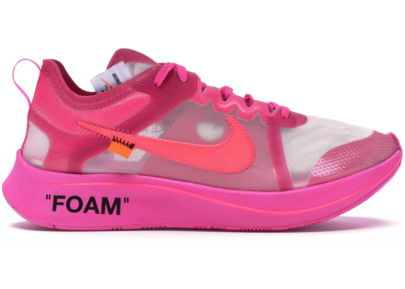 Nike Zoom Fly Off-White Pink in 2020