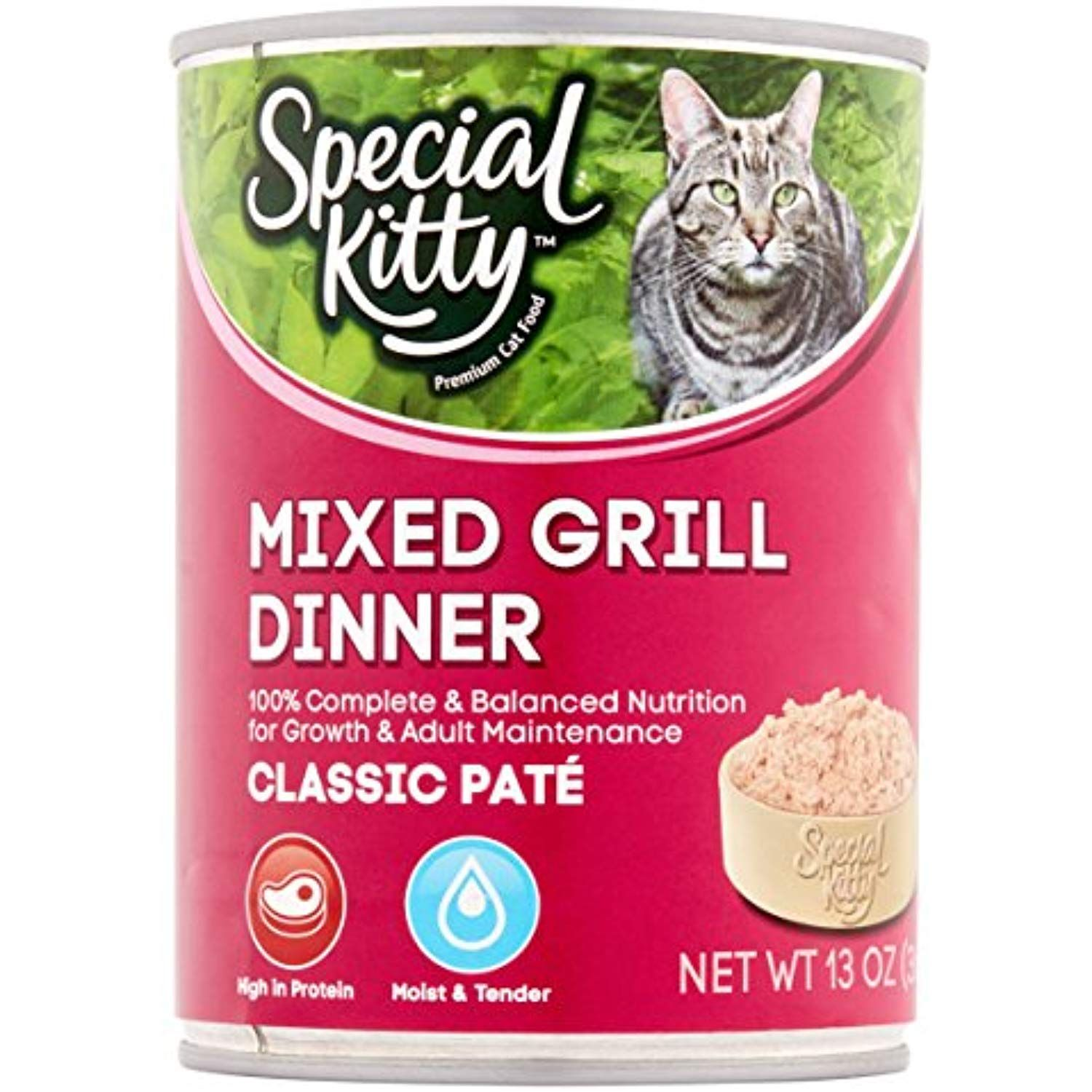 13oz Pack Of 24 Special Kitty Classic Pata C Mixed Grill Dinner Premium Cat Food Click On The Image For Additional Grilled Dinner Canned Cat Food Cat Food