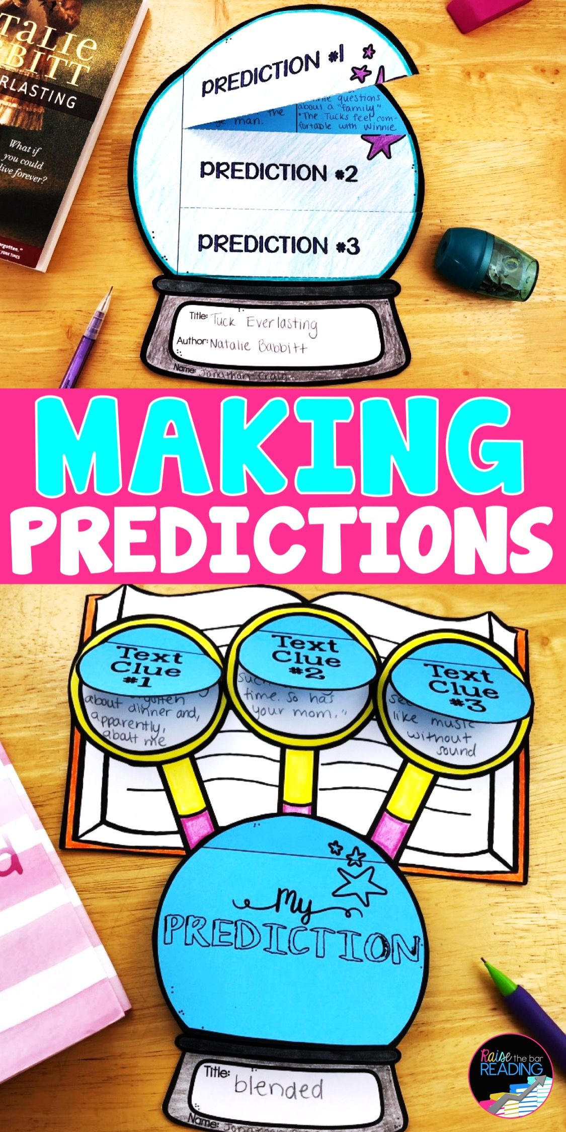 Reading Comprehension Crafts Making Predictions Activity