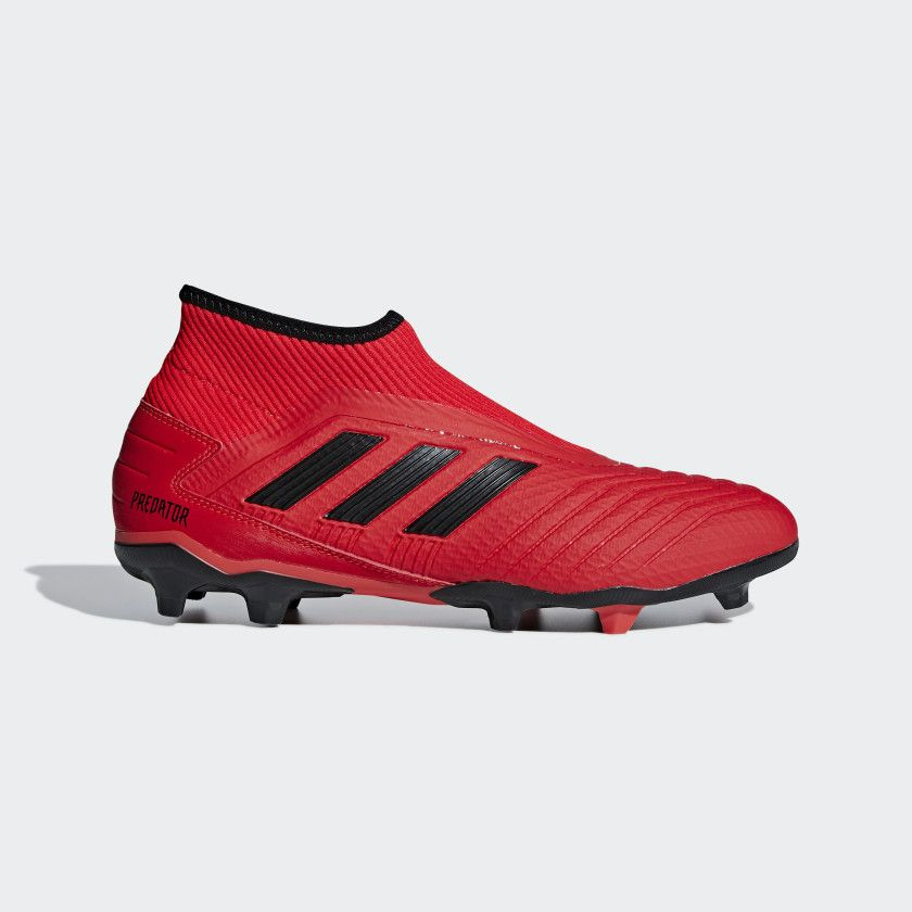 on sale 797ad 3a2a3 Bota de fútbol Predator 19.3 Laceless césped natural seco Active Red  Core  Black  Core