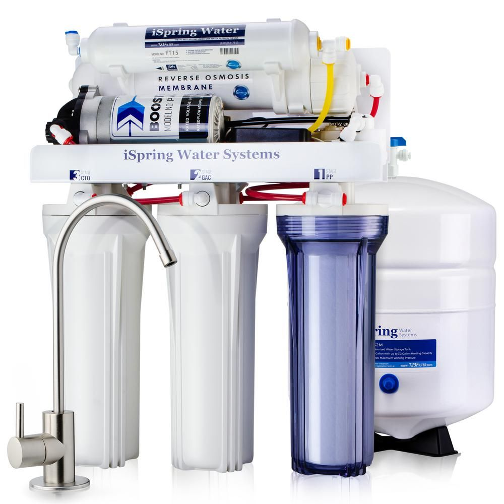 Ispring 5 Stage 100 Gpd Reverse Osmosis Water Filtration System
