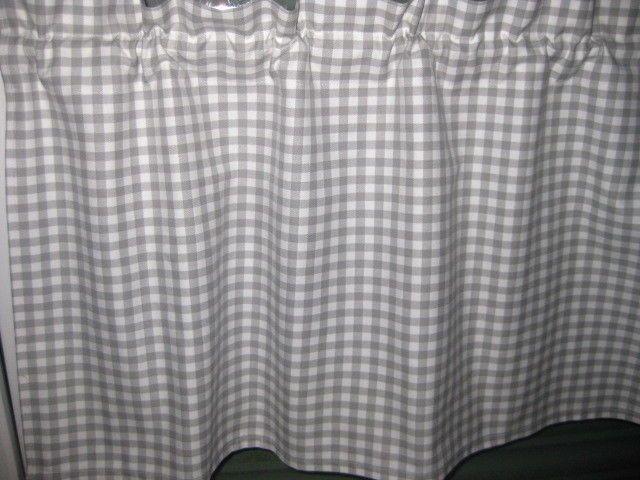 Bistrogardine,Scheibengardine, Landhaus-Blickdicht Grau Gardine - gardinen für badezimmer