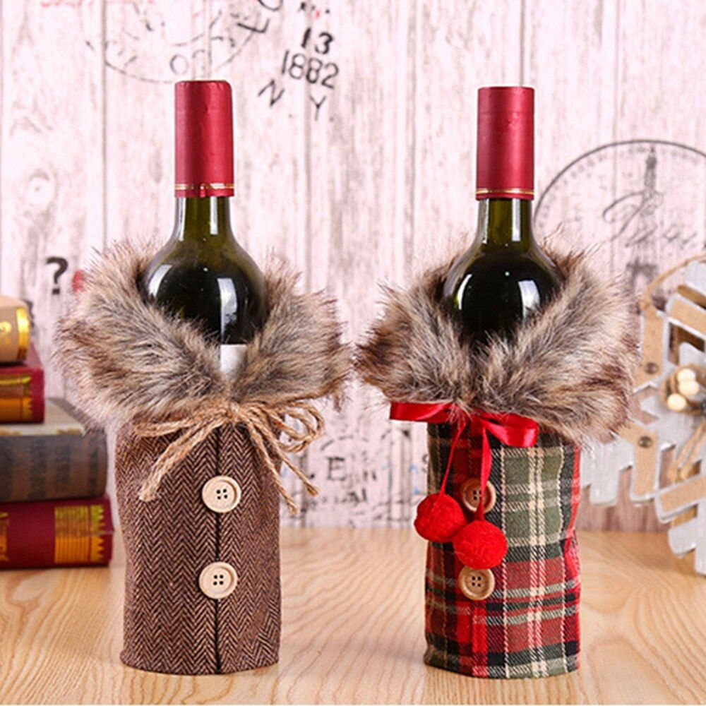 Pin By Diane Ross On Christmas Wrapping Ideas Christmas Wine Bottle Covers Christmas Wine Bottles Wine Bottle Christmas Decorations