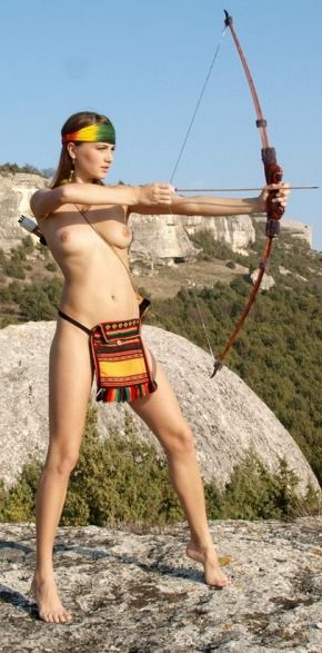from Stefan girl nude with bow