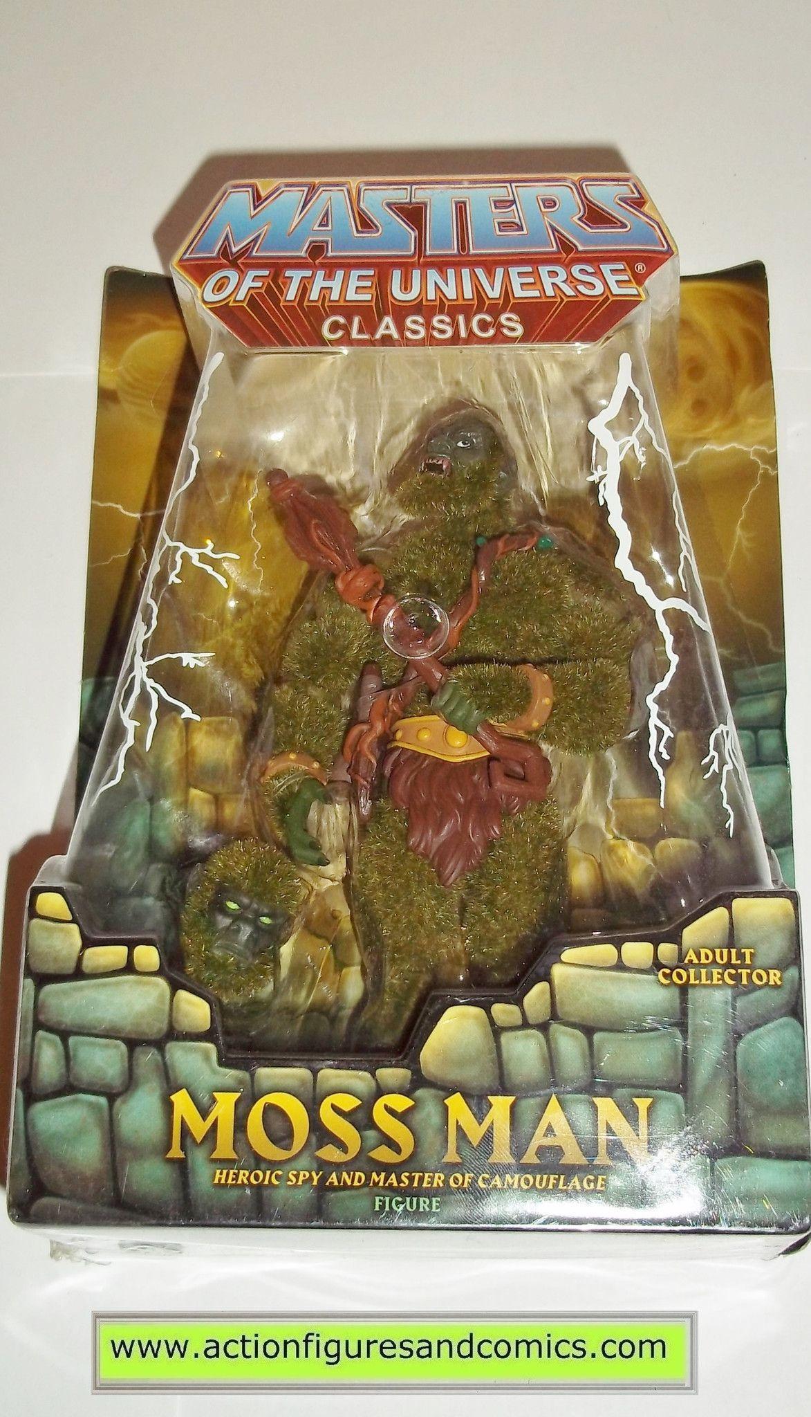Masters of the Universe MOSS MAN Classics he-man motu action figures mattel mib moc mip