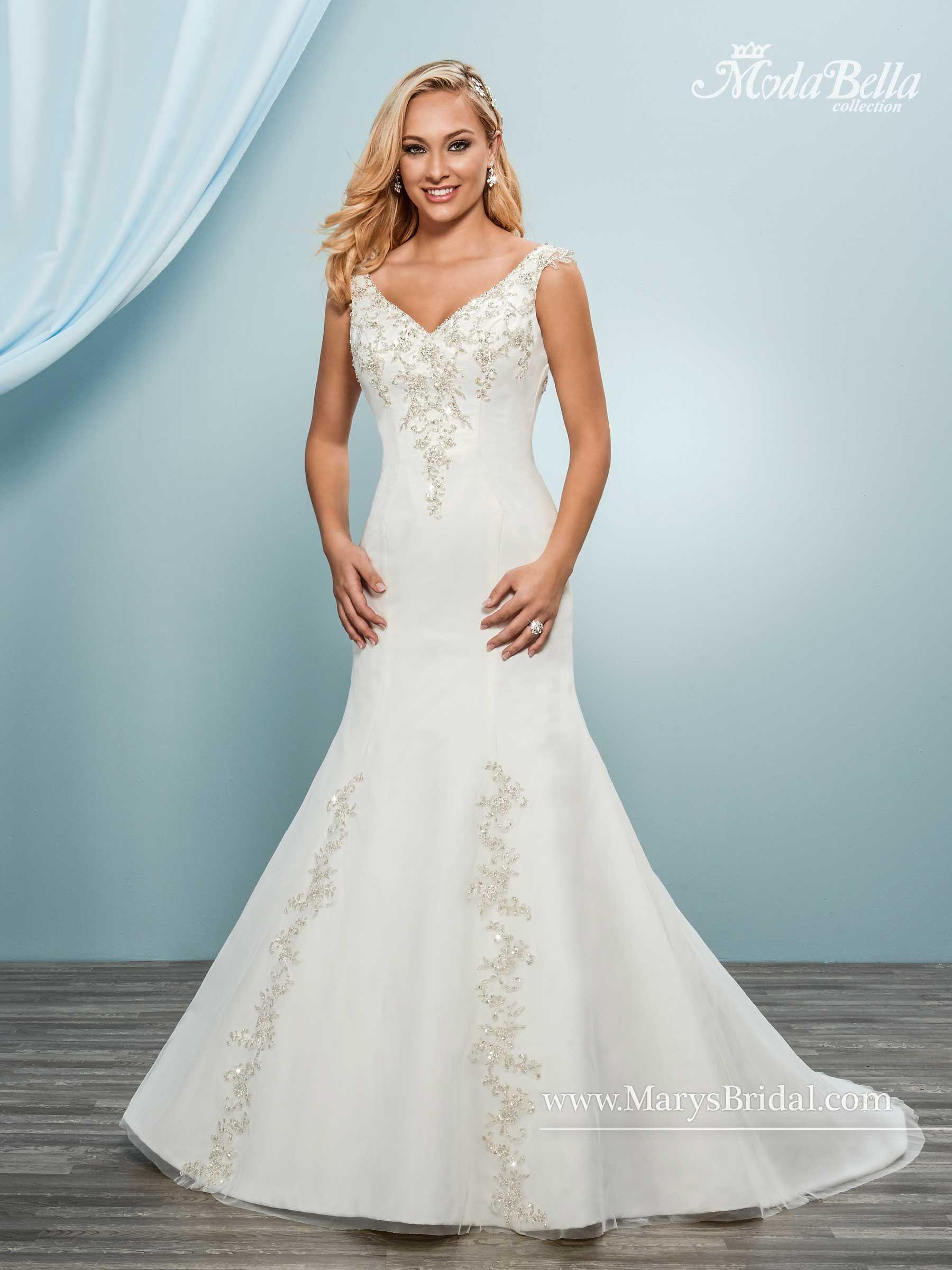 Mary\'s Bridal Gown - Moda Bella Style: 3Y631 (20)W, (16)I | novias ...