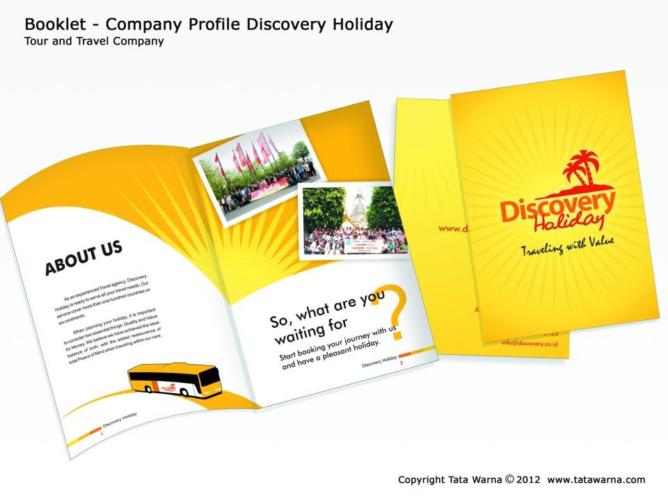 Our Portfolio  BookletCompany Profile Discovery Tour And Travel