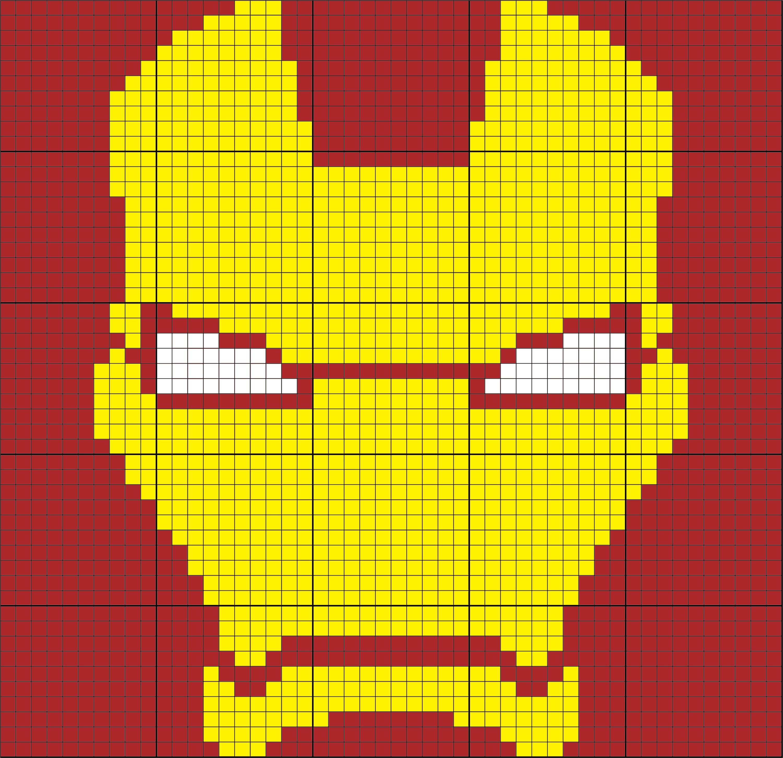 Iron Man Mask 50 X 50 C2c Graph Graphgan Crochet Graphgan C2c