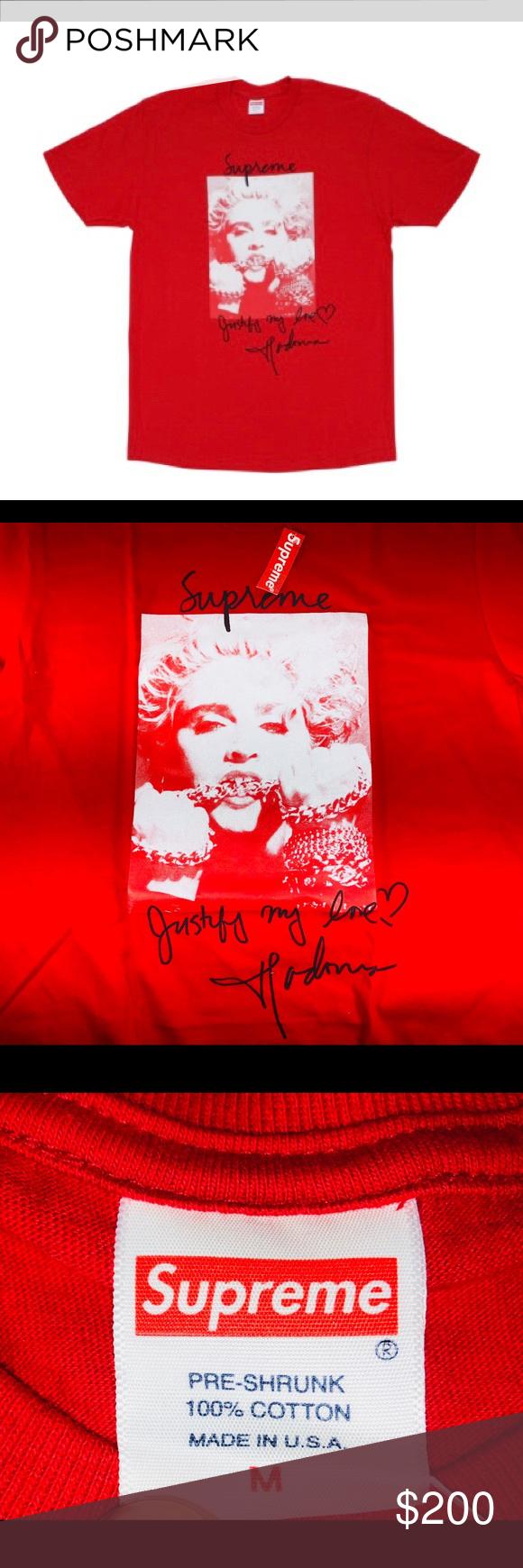 46917ab70 Supreme Madonna Tee Short Sleeve Graphic Tee Mens Size Medium FW18 T1  Supreme Shirts Tees - Short Sleeve