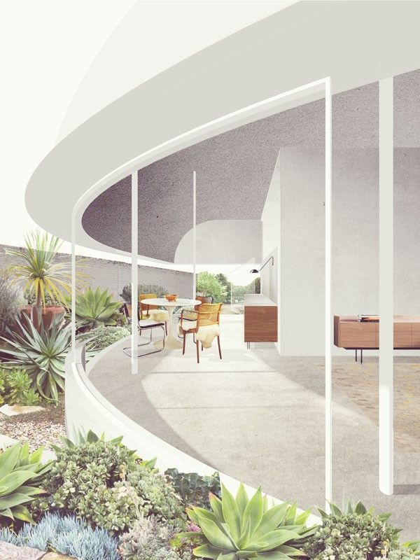 Lilyfield house render retallack thompson i like the low contrast abstract style of the for Architectural interior rendering