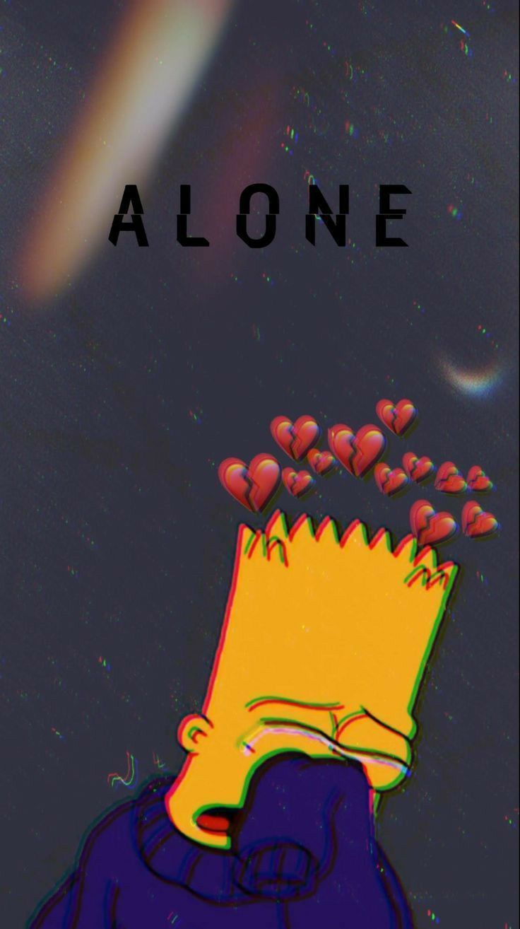 #ALONE   Emoji wallpaper iphone, Iphone background ...