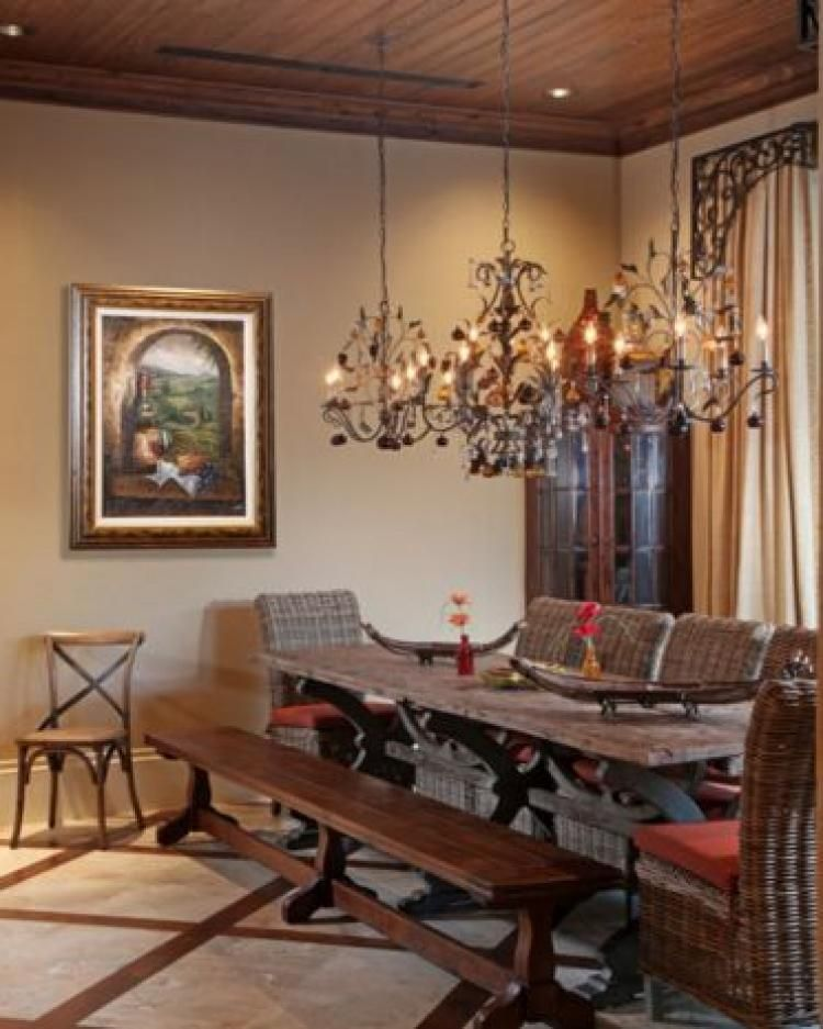16 Absolutely Gorgeous Mediterranean Dining Room Designs: 40 Mediterranean Dining Room Design