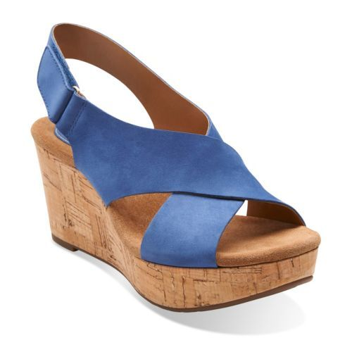 Caslynn Shae Blue Nubuck - Wide Shoes for Women - Clarks® Shoes - Clarks