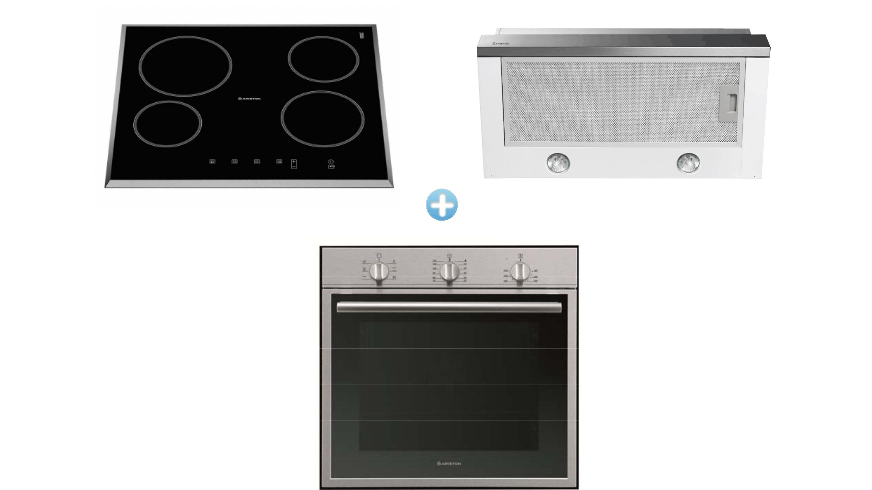 Ariston Cooking Package with Multi-Function Oven + Ceramic Cooktop ...