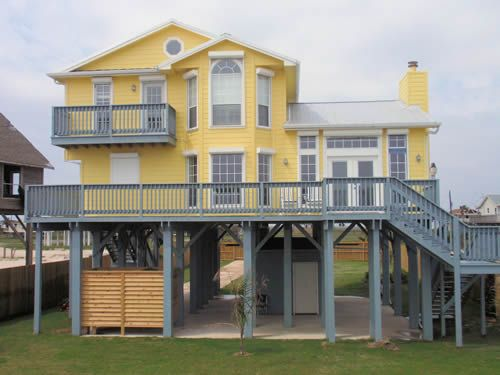 images about texas beach houses on, Beach House/