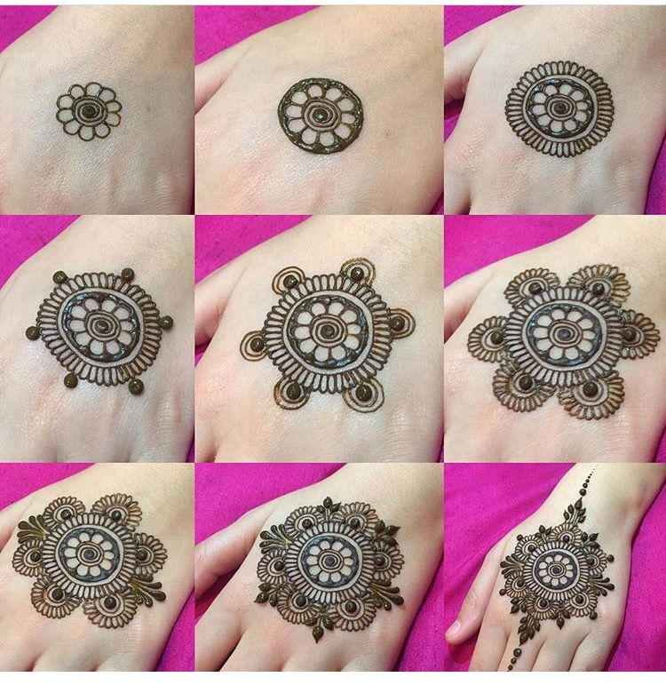 Mehndi Flowers Step By Step : Step by henna design tattoos pinterest