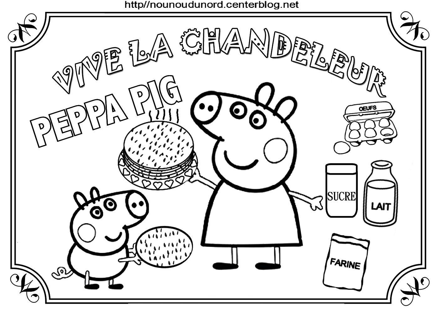 Peppa Pig Chandeleur 2020 En 2020 Coloriage Peppa Pig Activite Chandeleur Chandeleur Crepes