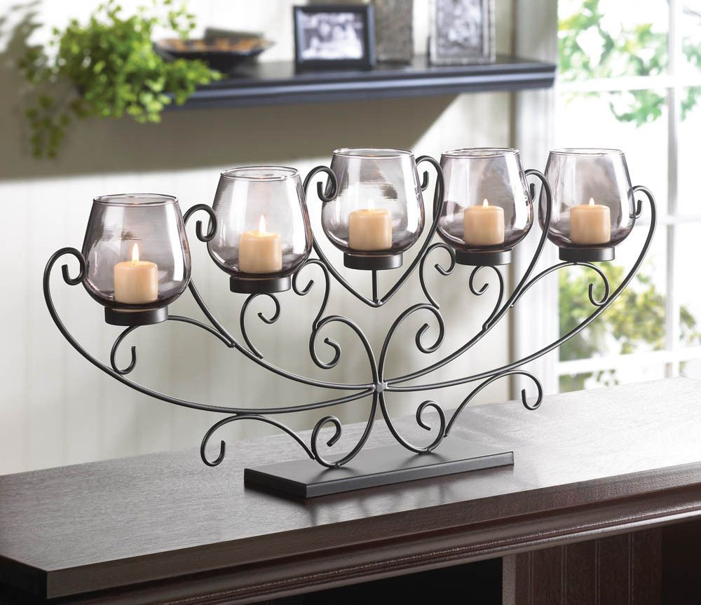 Candelabra and Fireplace candles