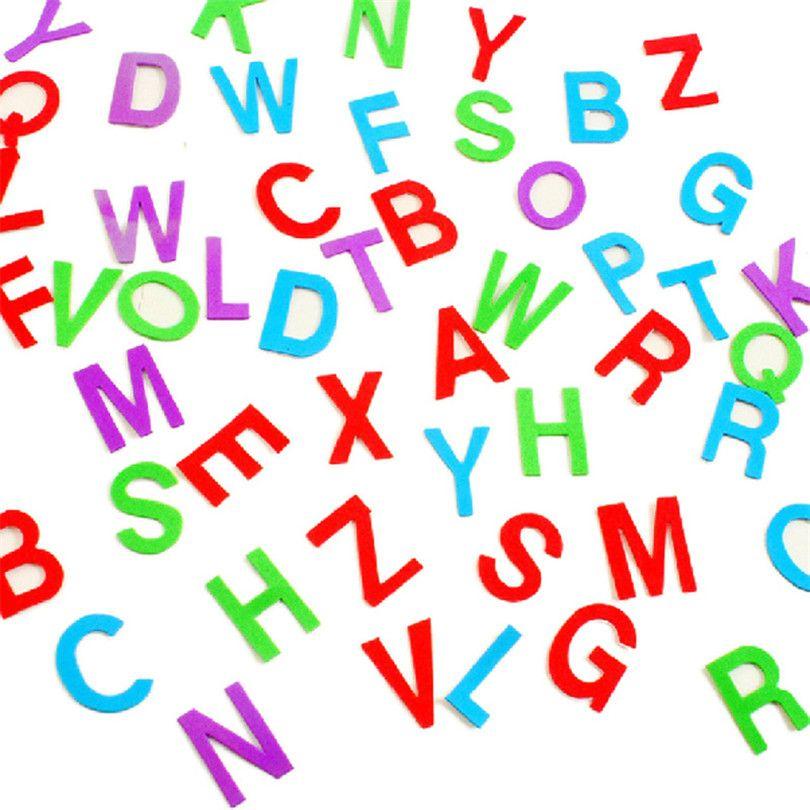 Charming Günstige Candy Farbe Englisch Brief Wandaufkleber Diy Eva Schaum Aufkleber  Für Kinder Dekorative Aufkleber Für Kinderzimmer