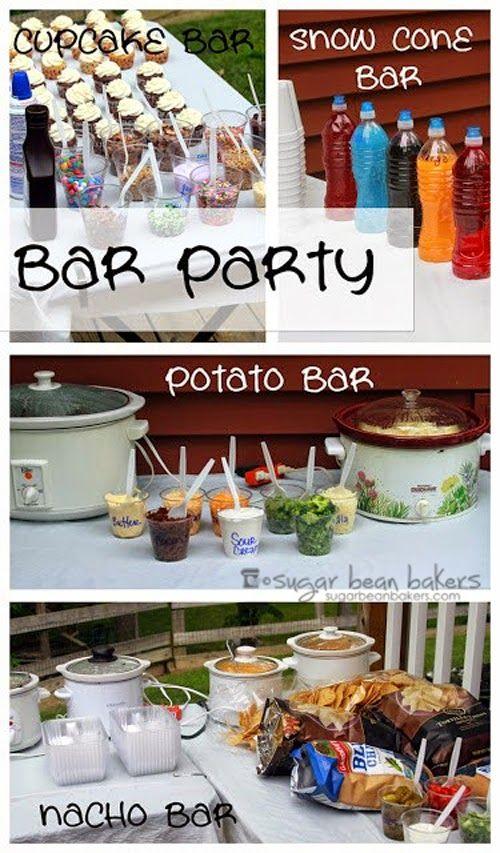 bar party beans sugaring and bar