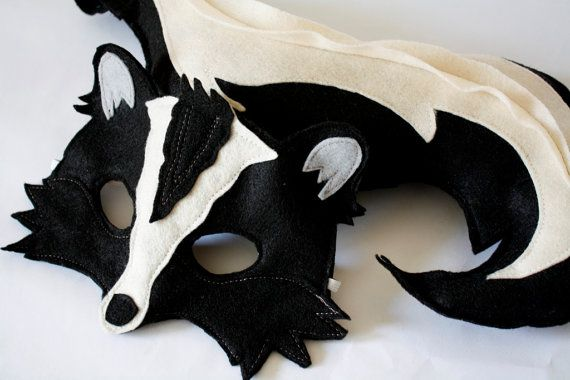 Stanley and Stella Stinker Skunk Felt and Tail pretend play costume
