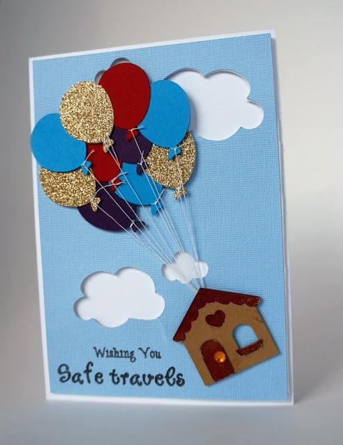 Cut n' Edge Crafts: Going Away Card - Up Style! | cricut ...