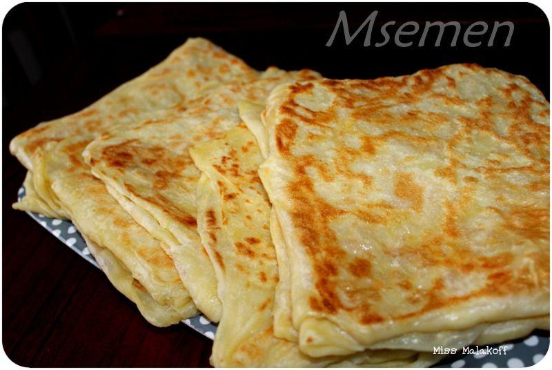 La recette des msemen avec astuce et methode miss malakoff cuisine recettes de cuisine facile - Astuces de cuisine rapide ...
