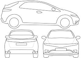 Image Result For Honda Civic Vector Honda Civic Outline Designs Car Graphics