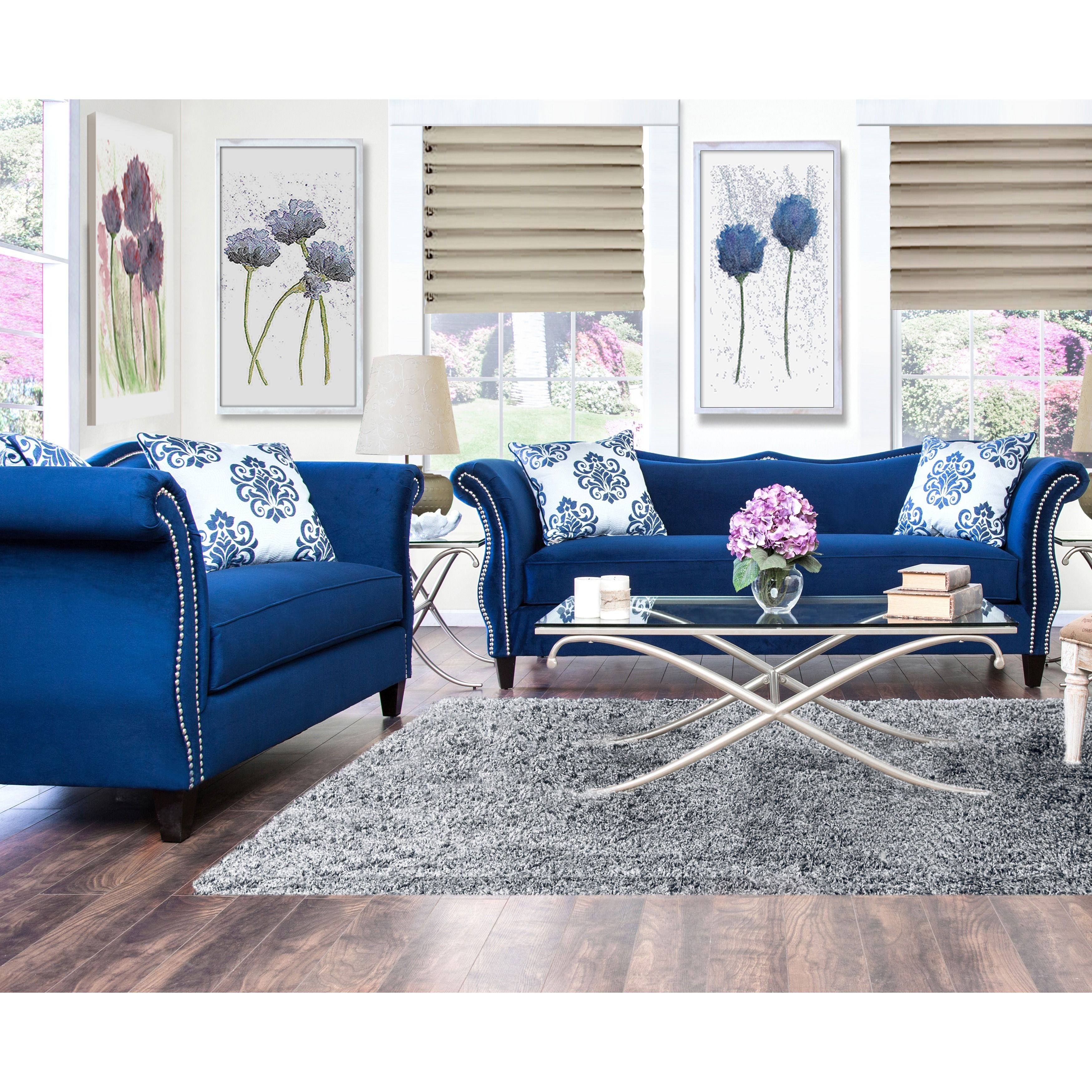 Online Shopping Bedding Furniture Electronics Jewelry Clothing More Blue Sofa Set Blue Living Room Blue Sofas Living Room