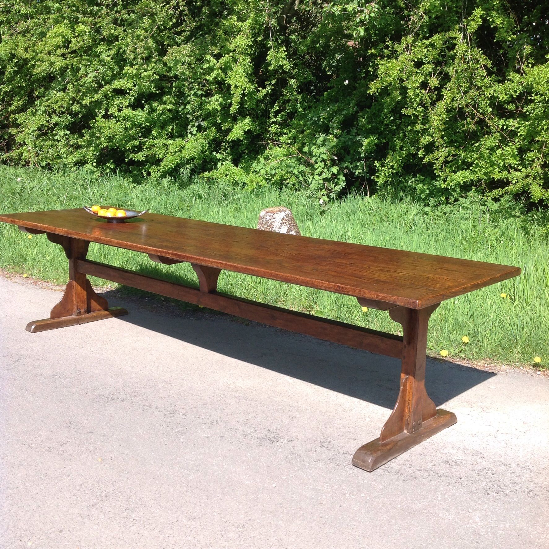 Antique Trestle Table Antique Dining Room Table Large Dining Table