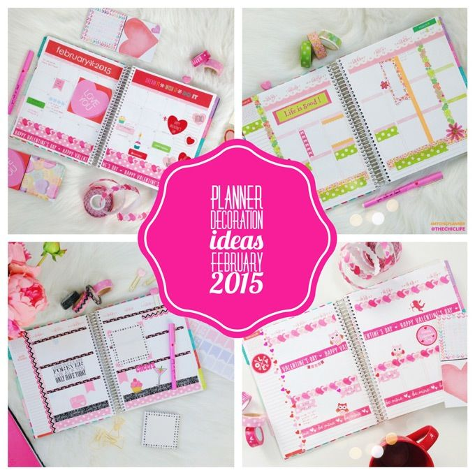 Planner Decoration Ideas February 2017 Erin Condren Vertical