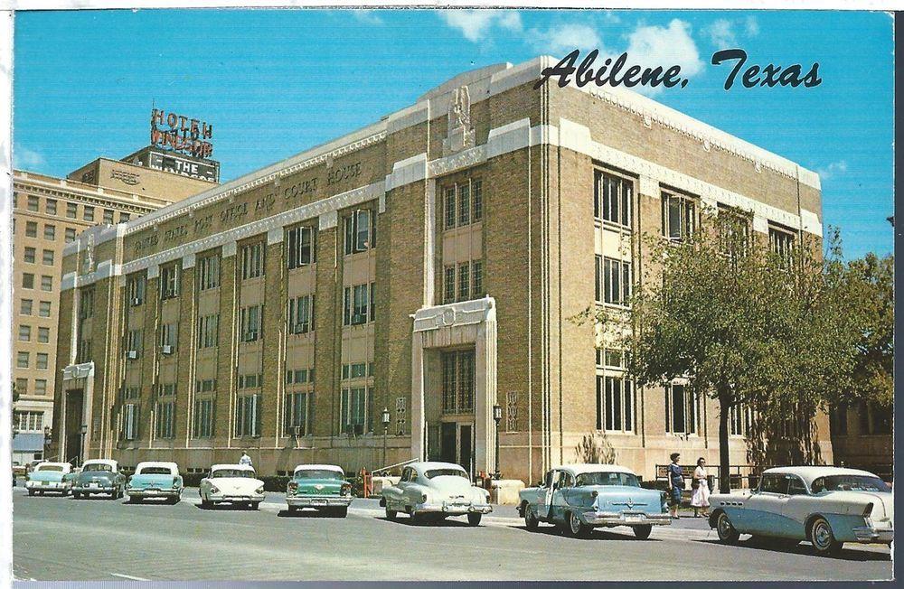 Abilene Texas TX Post Office Chrome View O Gram Unused