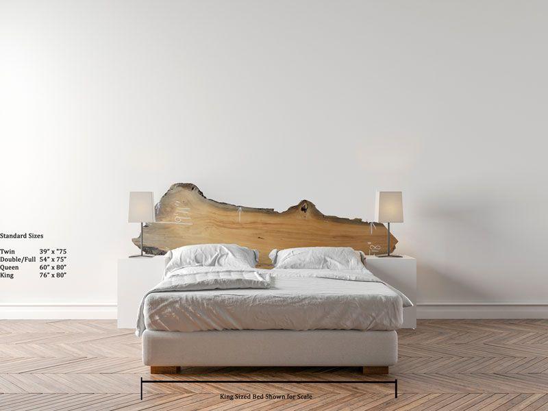 River Sunken Recovered Reclaimed Cypress Headboard Natural Live Edge Raw Wood Slab Wooden Custum Rustic Chic Unique Furniture Di Headboard Bed Unique Furniture