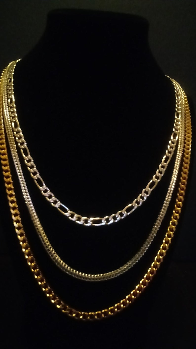 Curb Necklace in ION Plated YG Stainless Steel 20 in