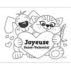 Coloriage pour la Saint-Valentin   Valentine's   Pinterest   French teaching resources, French ...