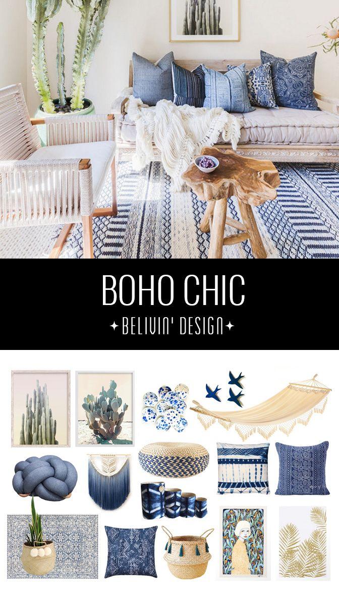 Get the boho chic look - 32 bohemian interior design ideas