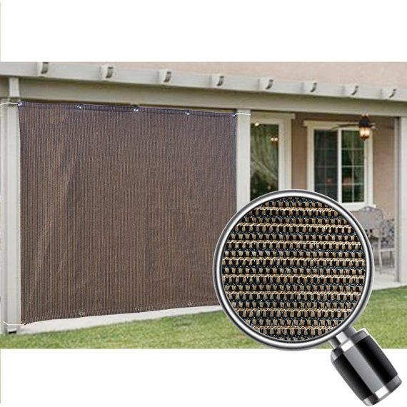 Best Custom Sized Sun Shade Privacy Panel With Grommets On 2 400 x 300