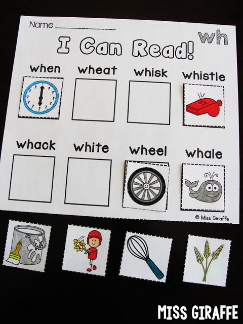 Digraphs worksheets and activities that practice the WH digraph ...