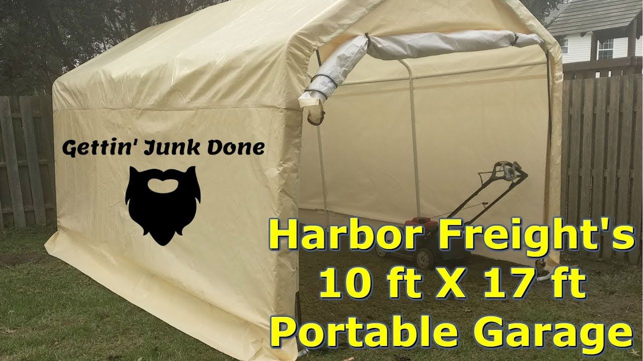 Harbor Freight Portable Garage 10 ft X 17 ft Initial