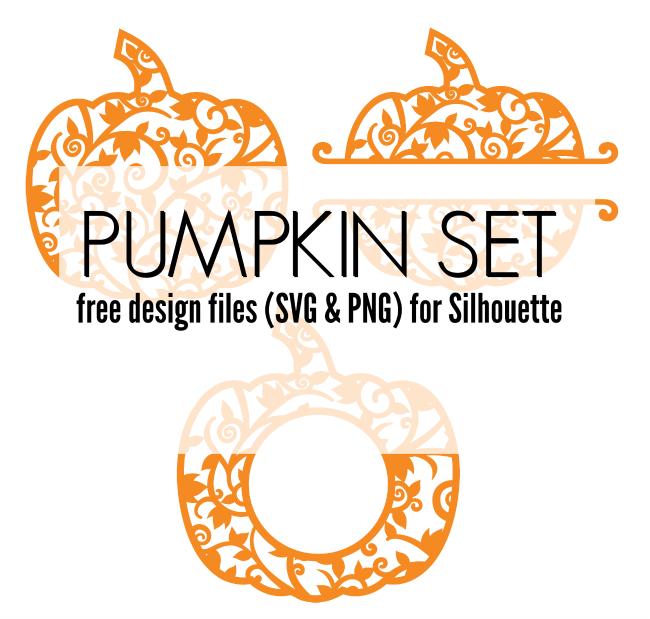 pumpkin set, svg pumpkins, pumpkin monogram, pumpkin