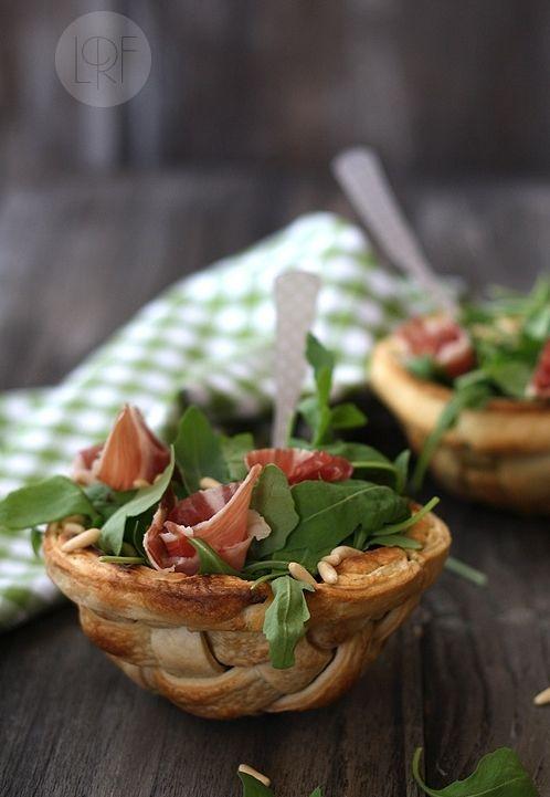 Arugula, Ham and Pinenuts Salad #foodstyling #savoury
