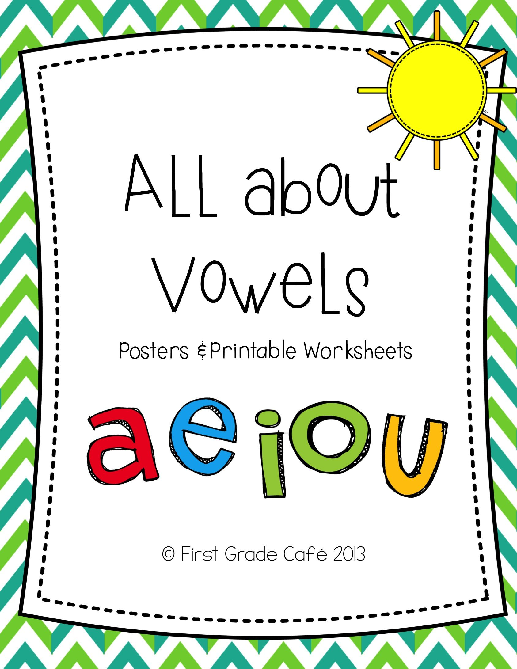 Short Amp Long Vowels Posters Amp Printable Worsheets
