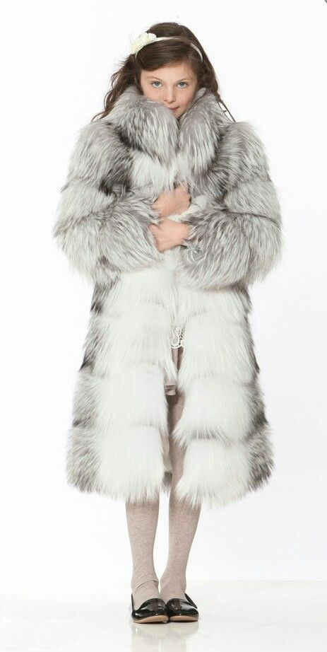 little girl's fox fur coat | furs | Pinterest | Veruca salt, Fox ...