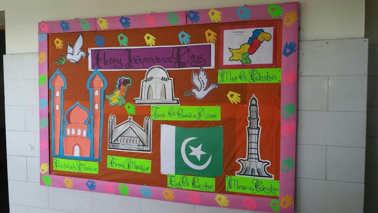 Pakistan Independence day softboard by Sumera Saleem