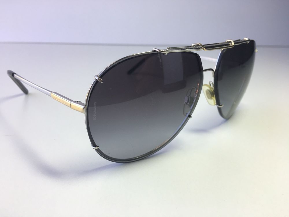 737b7035fe DOLCE GABBANA Aviator Sunglasses DG2075 Gold Silver Frames Grey Gradient  Lenses  fashion  clothing  shoes  accessories  unisexclothingshoesaccs ...