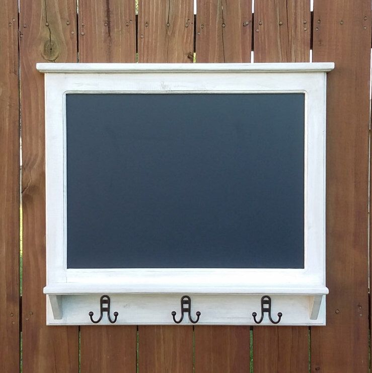 RUSTIC CHALKBOARD Coat Rack With Shelf Magnetic Entry Way Coat Cool Chalkboard Coat Rack