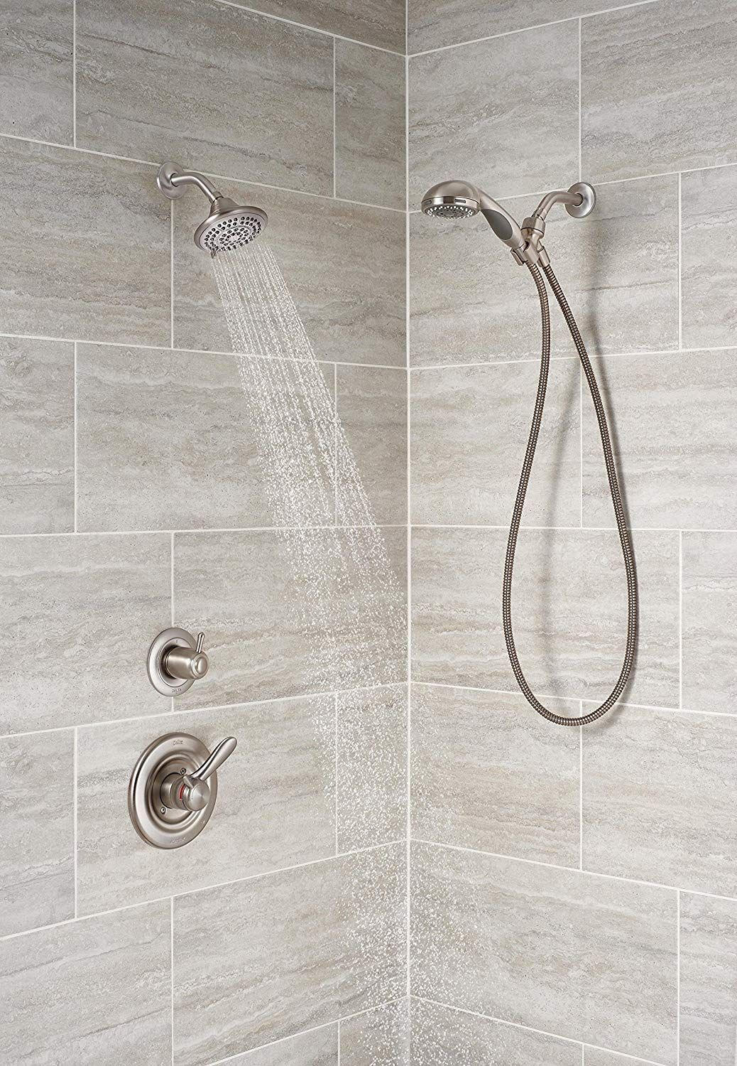 Simply Set The Water At Your Preferred Temperature And Turn The Shower On Or Off With The Volume Cont Shower Faucet White Porcelain Tile Tub And Shower Faucets