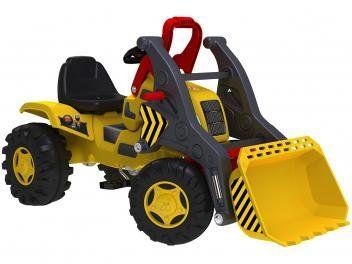 Trator Infantila Pedal Emite Sons - Trator Escavadeira Bandeirante - Magazine Dalebrink