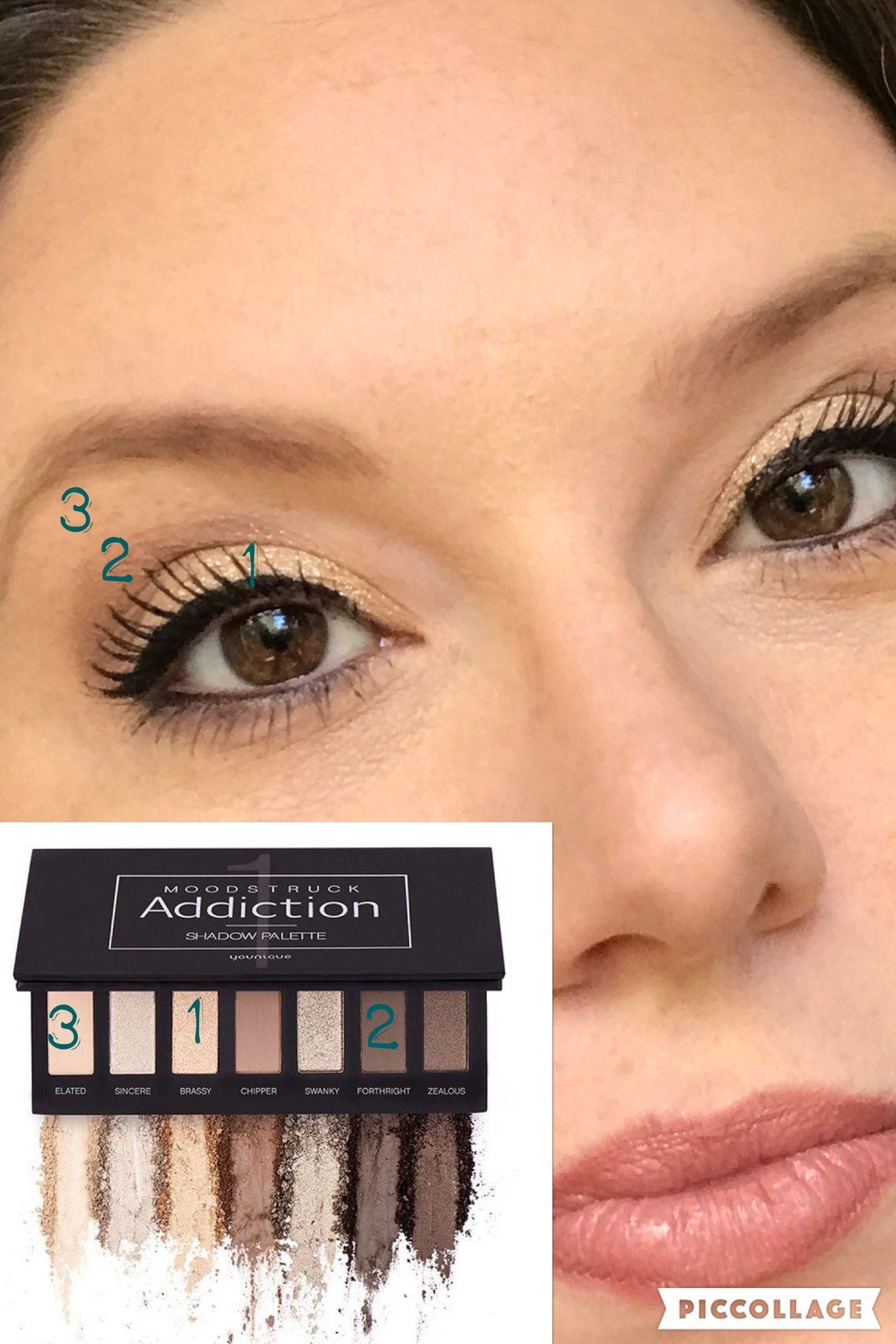 Pallet 1, Younique, elf liquid eyeliner, arbonne mascara