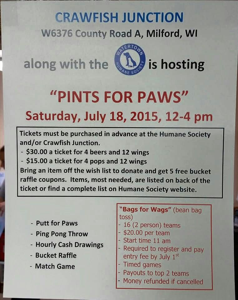 Watertown Humane Society Fundraiser! Work stuff Pinterest